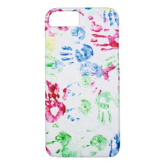 kid hand print paint pattern Case-Mate iPhone case