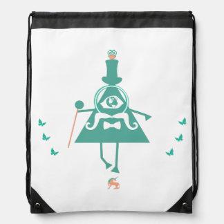 Kid Illuminati - the fake illuminati symbolism Drawstring Backpack