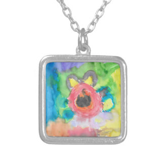 """""""Kid in Me"""" Sterling Silver Watercolor Necklace"""