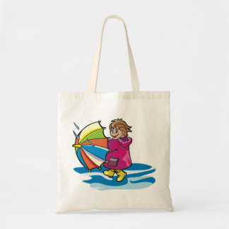 Kid In The Rain Tote Bag