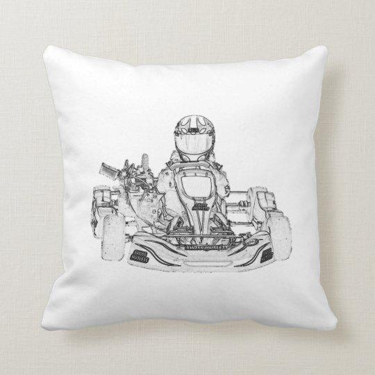 Kid Kart/Chequered Flag Pillow