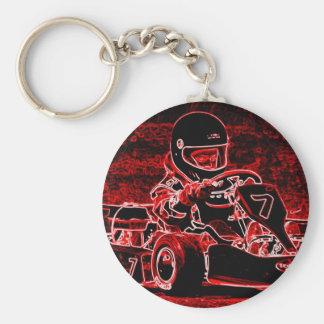 Kid Karts Are RED Hot! Keychain