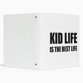 Kid Life Best Life 3 Ring Binder