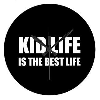 Kid Life Best Life Large Clock
