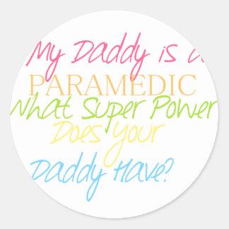 kid paramedic classic round sticker
