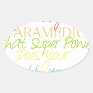 kid paramedic oval sticker