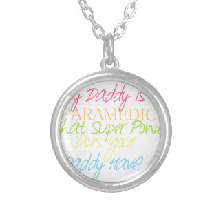 kid paramedic silver plated necklace