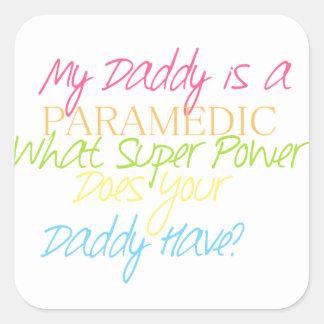 kid paramedic square sticker