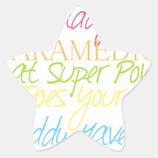 kid paramedic star sticker