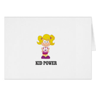kid power yeah card