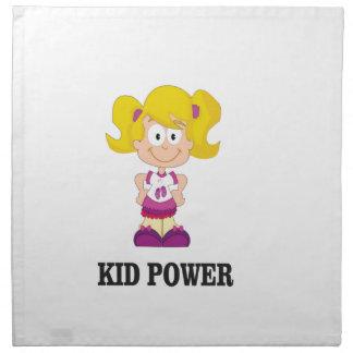 kid power yeah napkin