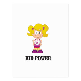 kid power yeah postcard