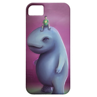 Kid Rides Blue Giant Adorable Monster iPhone 5 Covers