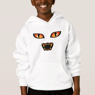 Kid`s Halloween Hoodie Black Cat Hooded Sweatshirt