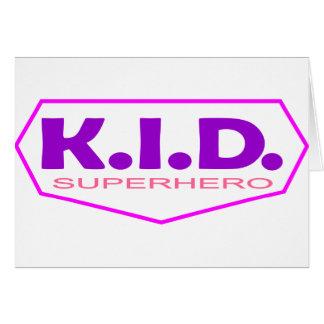 Kid Superhero 2 Greeting Cards