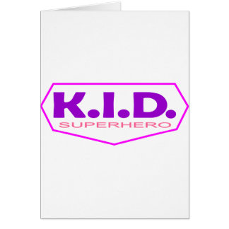 Kid Superhero 2 Greeting Card