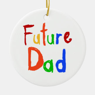 Kid Text Future Dad T-shirts and Gifts Ceramic Ornament