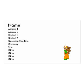 Kid with Bear Business Cards