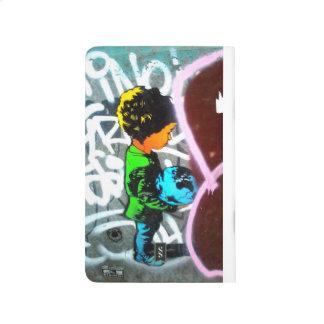 Kid with world in hand- Street Art notebook