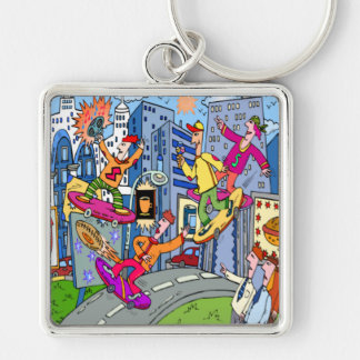 Kid Zazzle Skate Board Keychain