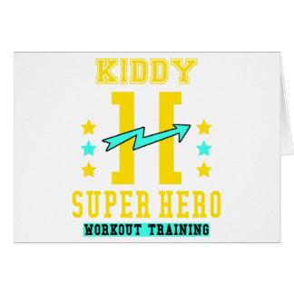 Kidd super hero workout training card