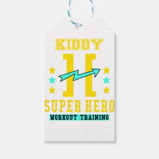 Kidd super hero workout training gift tags