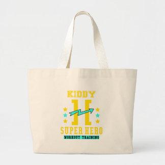 Kidd super hero workout training large tote bag