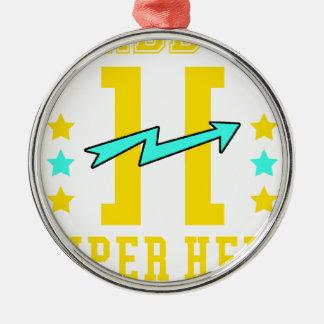 Kidd super hero workout training metal ornament