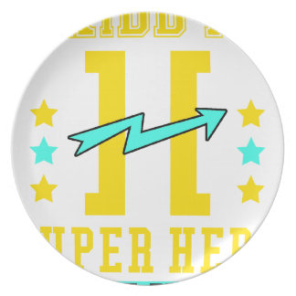 Kidd super hero workout training plate