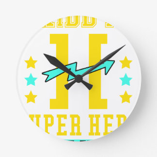Kidd super hero workout training round clock
