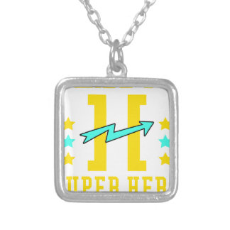 Kidd super hero workout training silver plated necklace