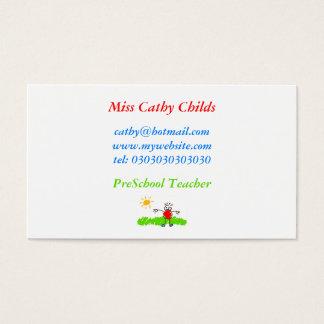 Kiddie Art, Miss Cathy Childs, Business Card