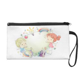 Kiddie Cloud wallet Wristlet Purses