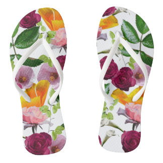 Kiddy Florals by ZALA02CREATIONS Flip Flops