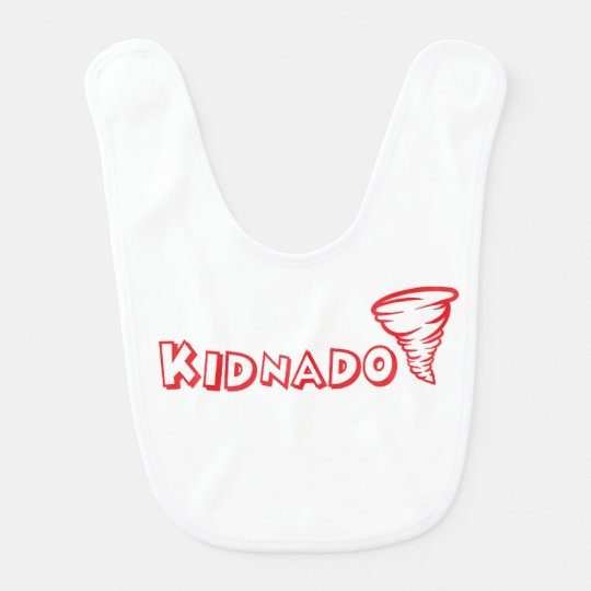 Kidnado Baby Bib Red Schoolhouse Font