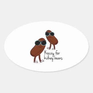 Kidney Beans Oval Sticker