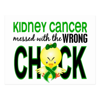 Kidney Cancer Messed With Wrong Chick Postcard
