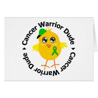 Kidney Cancer Warrior Dude 1 Greeting Card