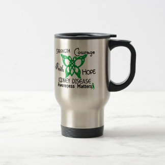 Kidney Disease Celtic Butterfly 3 Travel Mug