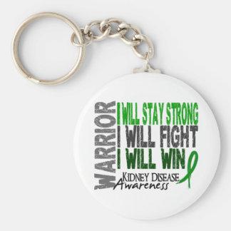 Kidney Disease Warrior Basic Round Button Keychain