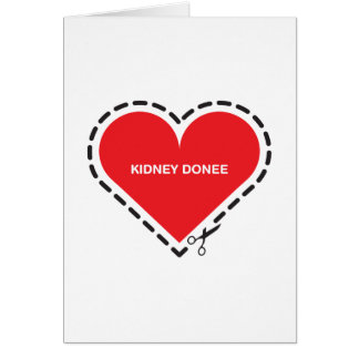 Kidney Donee 'Get well soon' Card