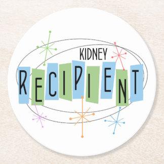 Kidney Recipient Retro Style Round Paper Coaster