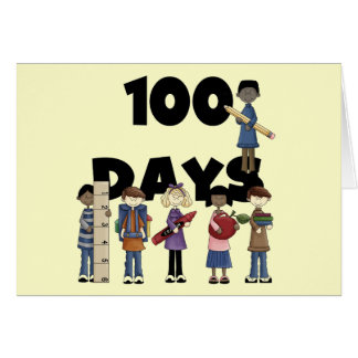 Kids 100 Days of School T-shirts and Gifts Greeting Card