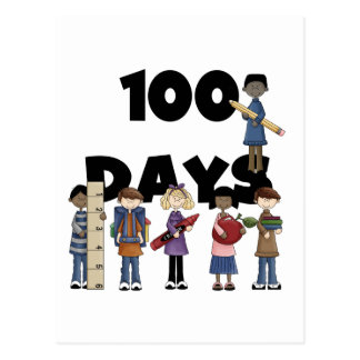 Kids 100 Days of School T-shirts and Gifts Postcard
