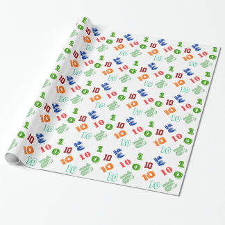 Kids 10th birthday personalize age wrapping paper