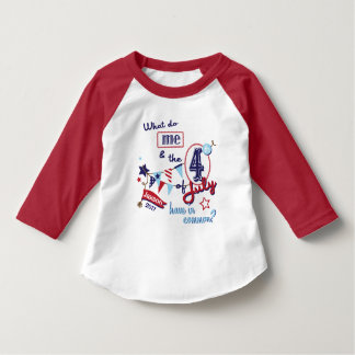 Kids 4th of July Funny Shirt July 4th Humorous Tee