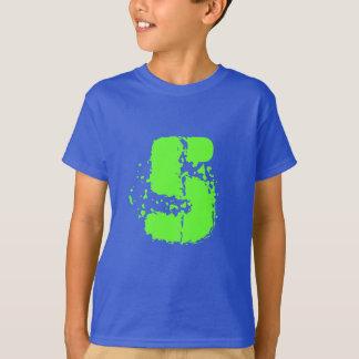 Kids 5th Birthday shirt | Age five in neon green