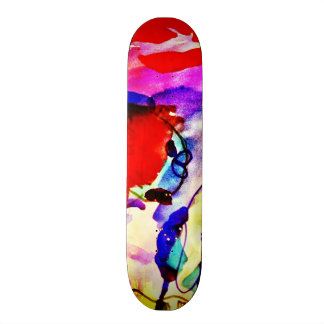Kids Abstract Art Rainbow Fish in Colorful Sea Skateboard Decks