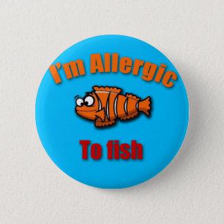 Kids allergy alert fish 2 inch round button