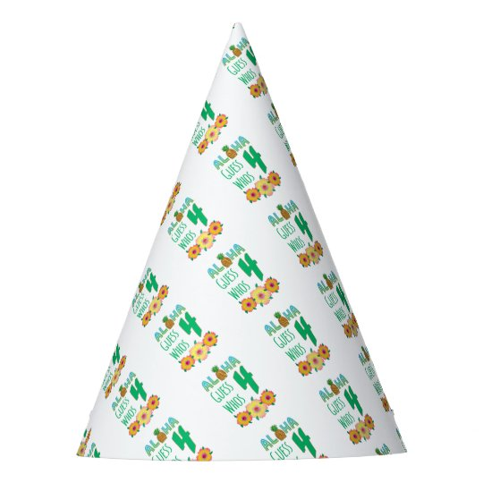 Kids Aloha Tropical Luau 4 Years Old Birthday Party Hat